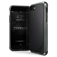 Чехол X-Doria Defense Lux для iPhone 7/8 Чёрная кожа