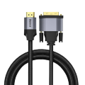 Кабель Baseus Enjoyment HDMI - DVI 2м Серый